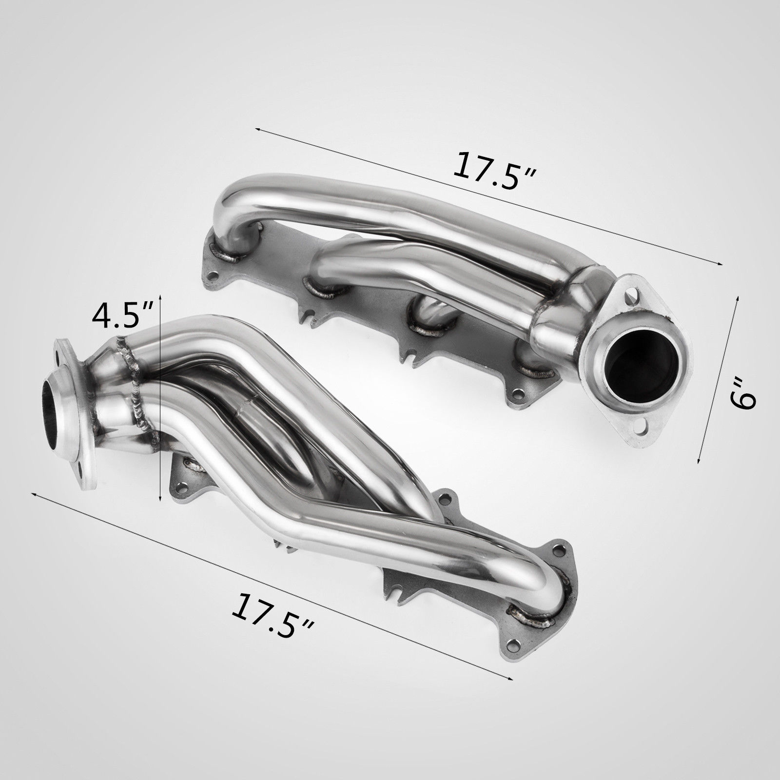 For Ford F150 04-10 5.4L V8 Exhaust Manifolds Headers Shorty Truck Car
