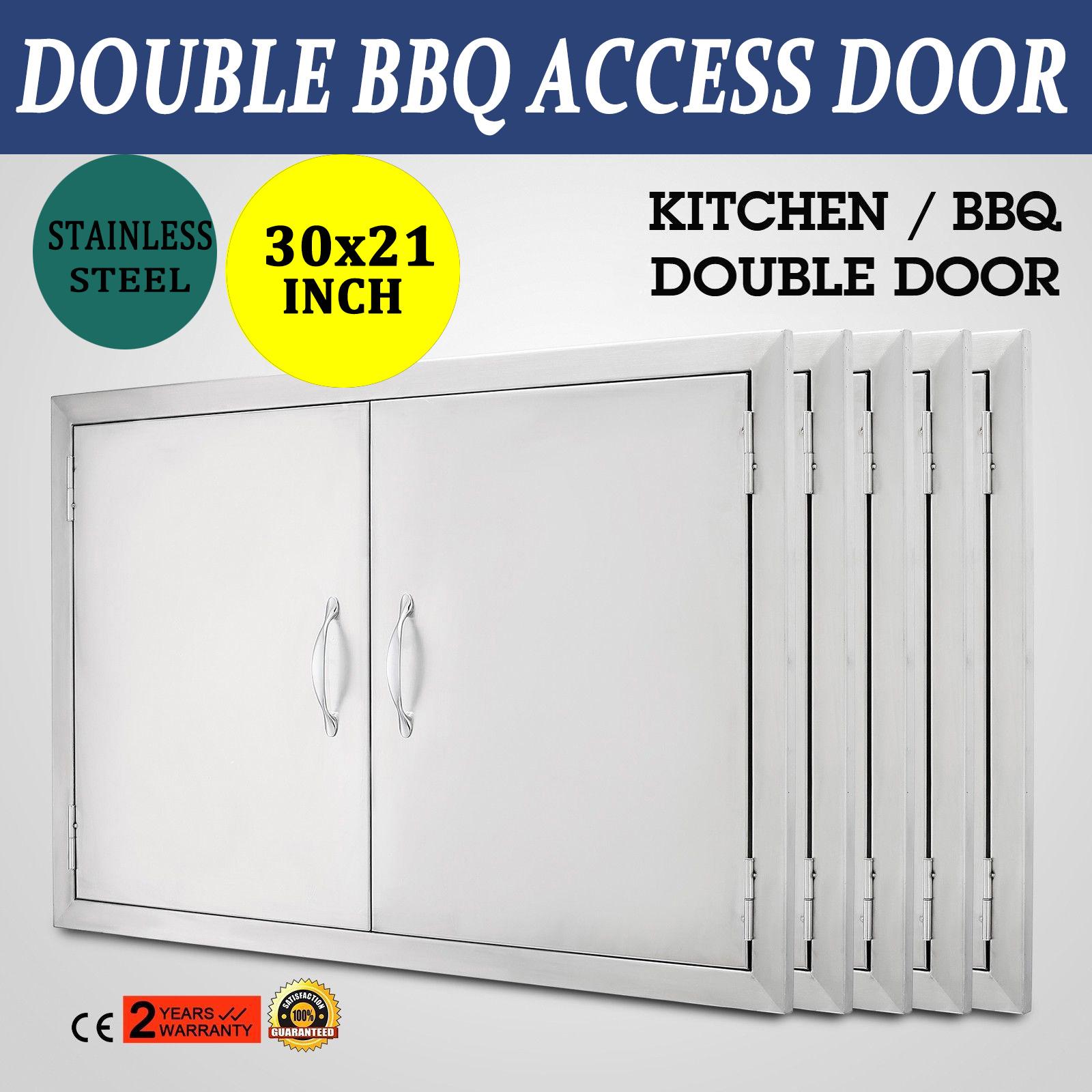 30 X 21 Stainless Steel Double Access Door Bbq Island Outdoor Kitchen