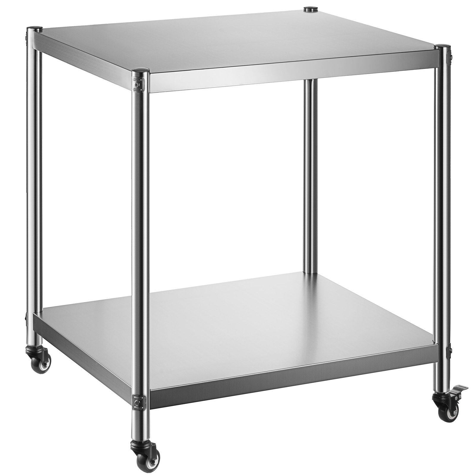 """36""""x24"""" rolling stainless steel top kitchen work table"""