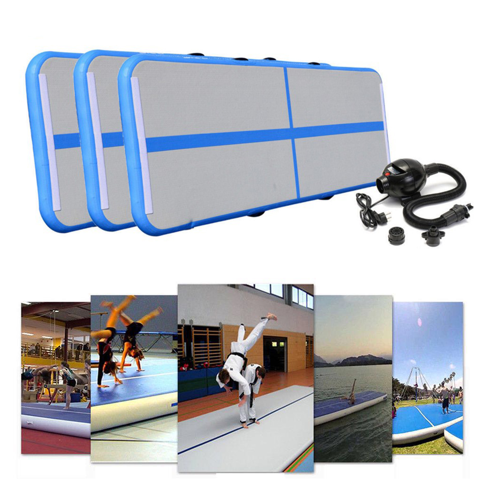 airtrack air track floor inflatable gymnastics tumbling mat gym w pump 699929394101 ebay. Black Bedroom Furniture Sets. Home Design Ideas