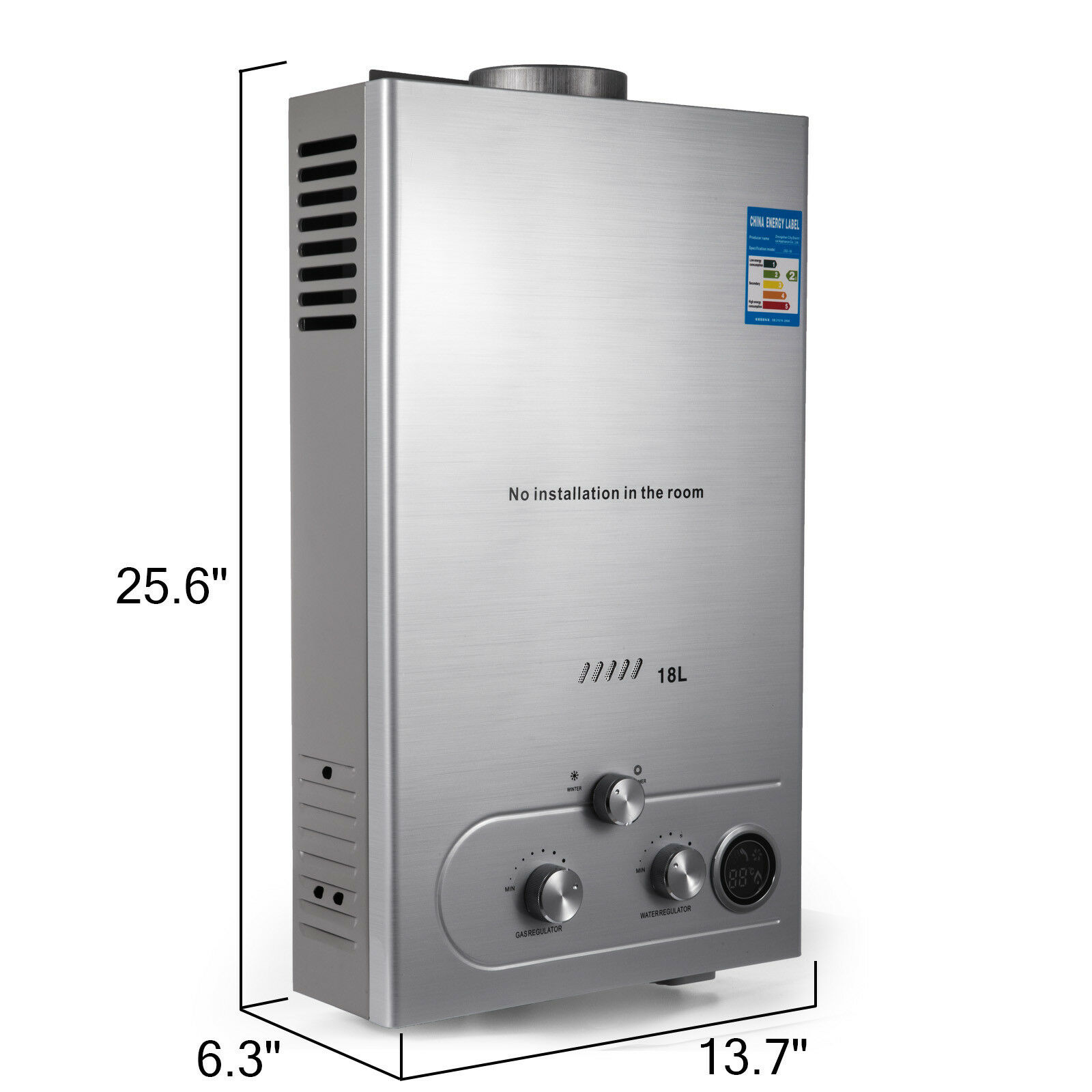 18l Propane Gas Hot Water Heater Instant Boiler On Demand