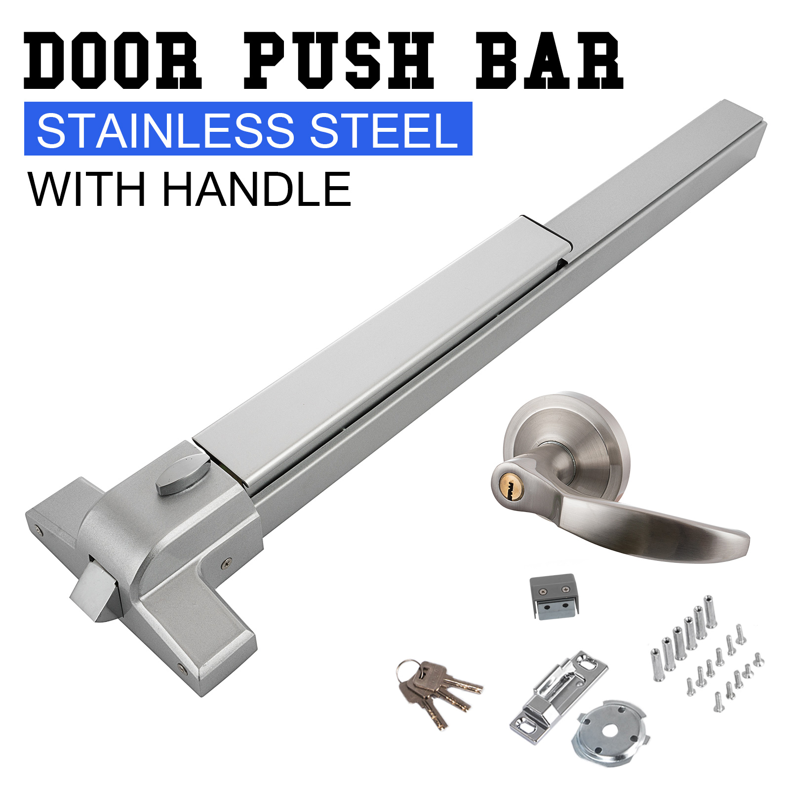 Door Push Bar Exit Panic Device lock Emergency Hardware Latches Commercial Grade