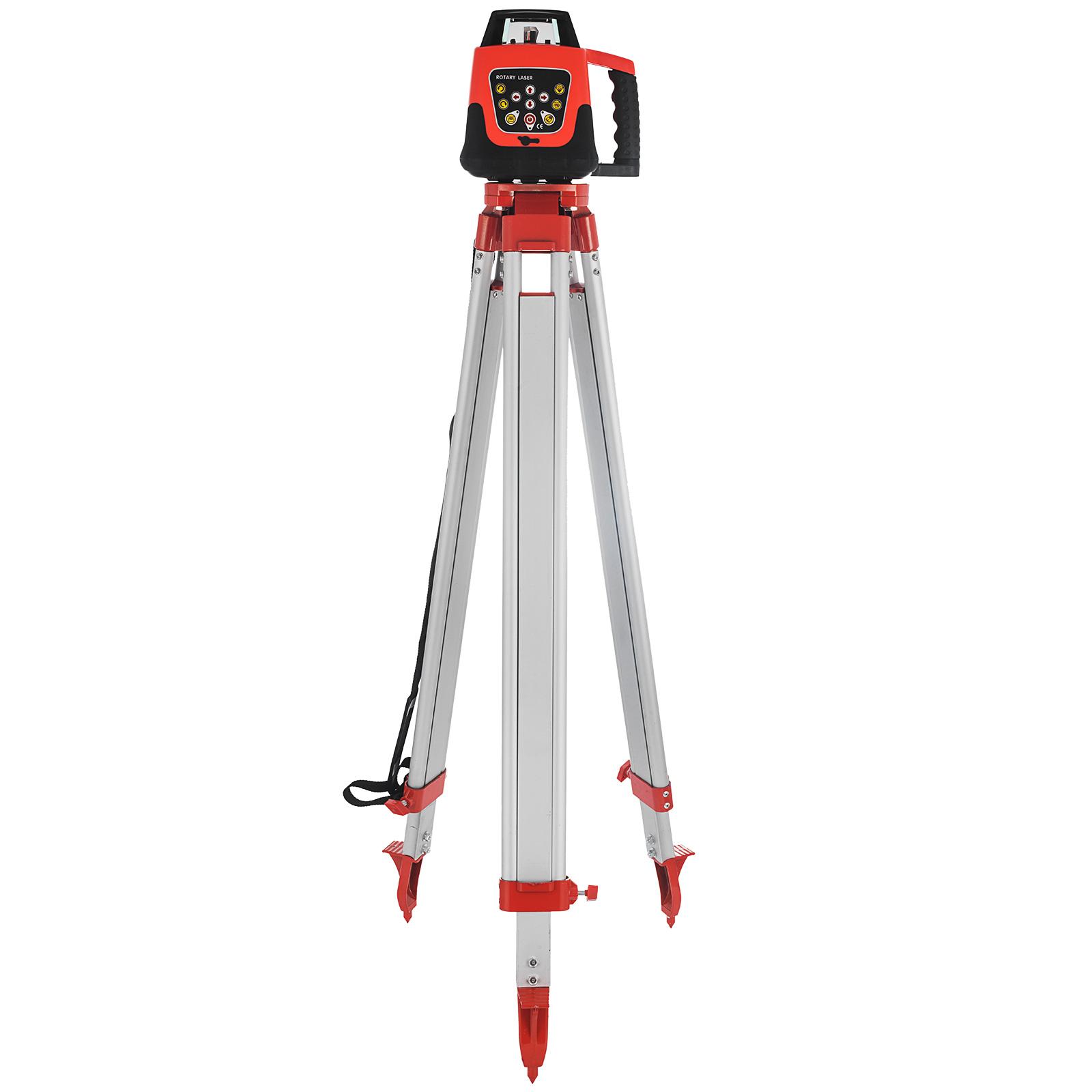 Rotationslaser 1.65M Stativ 5M Mitarbeiter Rot Laser Level Laser Niveau Rotation