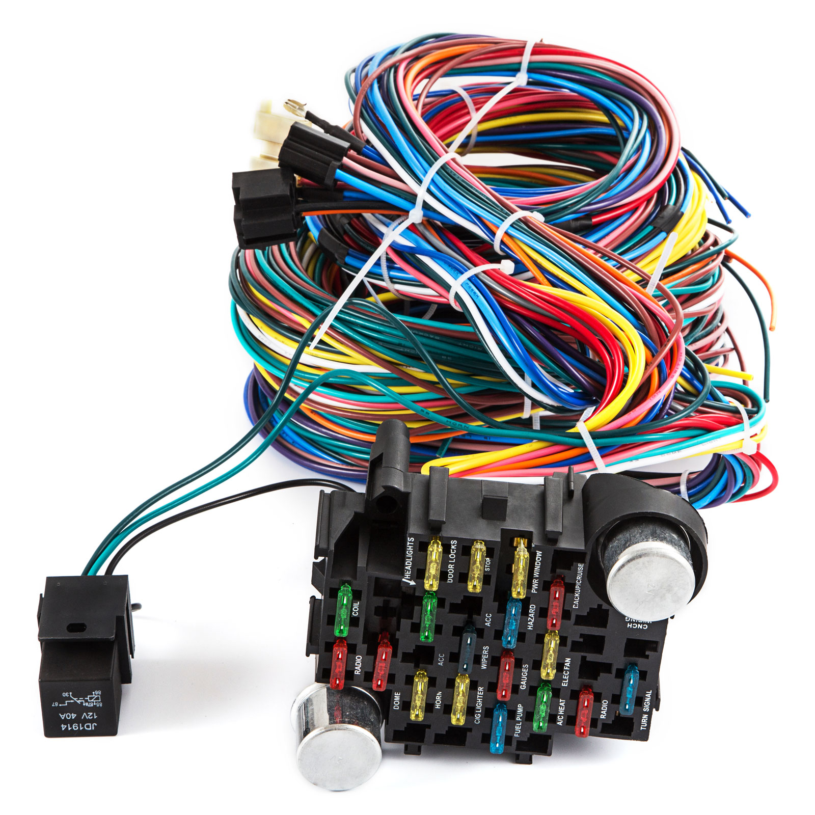 New 21 Circuit Wiring Harness Fit Chevy Mopar Ford Hotrods Universal Extra Wire 832419277434
